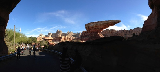Say what you will about CARS, but Imagineering did something pretty incredible with Cars Land.