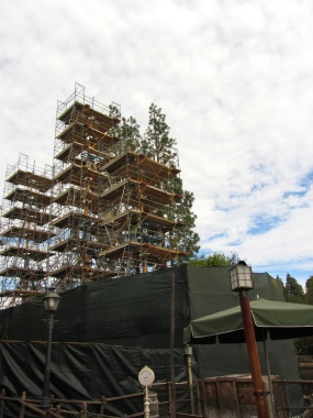 Columbia is in dry dock for refurbishment. At the time of this post, the scaffolding has come down, and she's scheduled to set sail again on February 14.