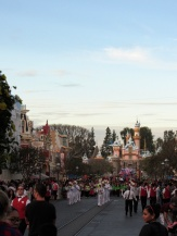 """Another first for me on this trip. I watched the Disneyland flag retreat ceremony for the first time. This is definitely one of those """"hidden"""" gems of Disneyland, take time to check it out if you never have before."""