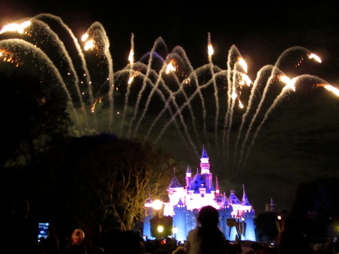 During the off season, Disneyland still shows Remember… Dreams Come True, their 50th Anniversary fireworks show. Albeit this is a significantly scaled down version of it. Still, it's a pretty great show.