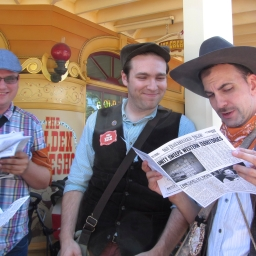 "Pictures from ""Legends of Frontierland: Gold Rush!"""