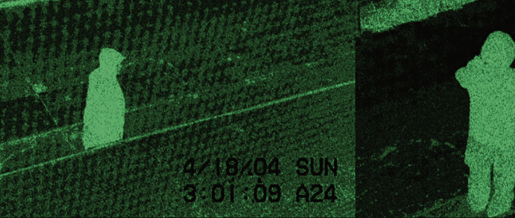 Infrared photo of a hood figure (presumably Banner) dated 4/18/04.