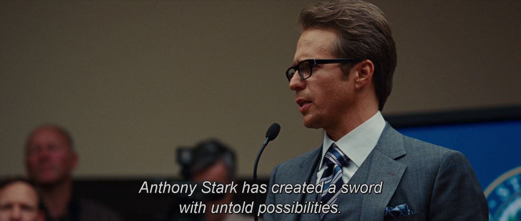 """…Anthony Stark has created a sword with untold possibilities."""