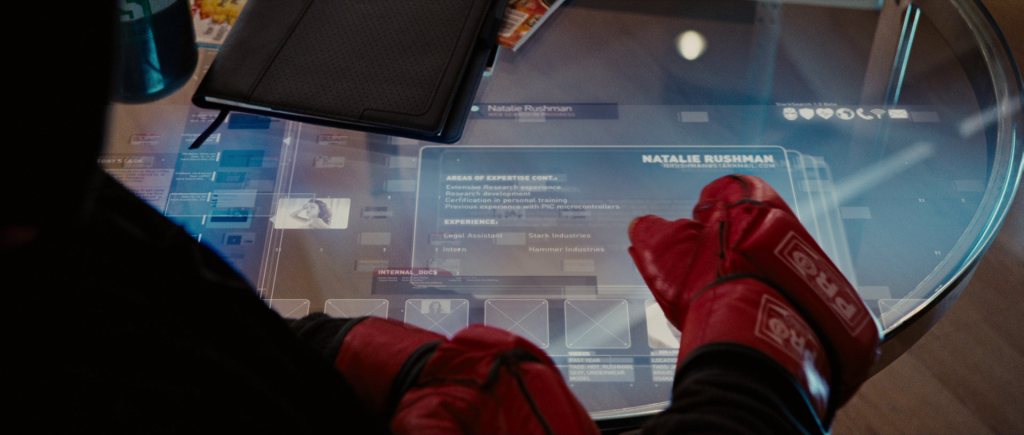 Work experience as a Legal Assistant at Stark Industries and an Intern at Hammer Industries.