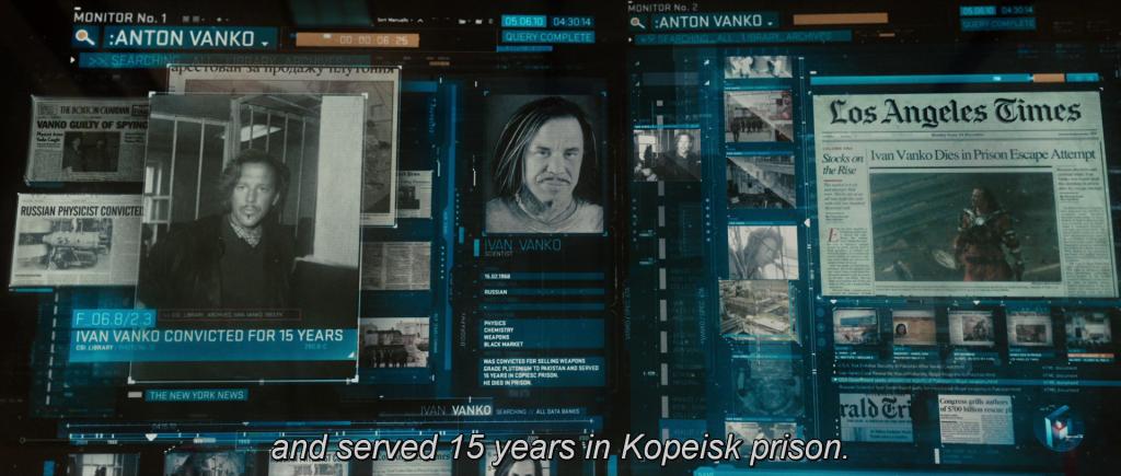 """""""[Ivan Vanko] served 15 years in Kopeisk prison."""""""
