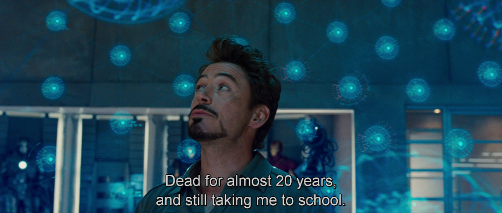 """Tony referring to his dad, """"Dead for almost 20 years, and still taking me to school."""""""