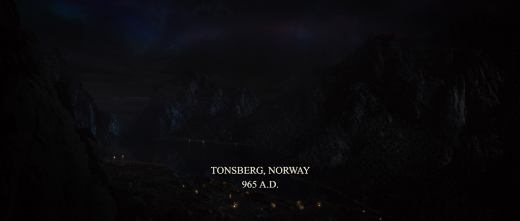 "Title card reading, ""Tonsberg, Norway. 965 A.D."""