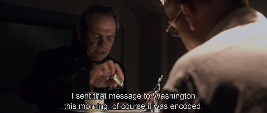 Colonel Phillips talking to Zola,