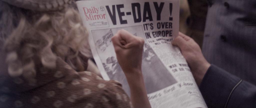 Newspaper headline reading,
