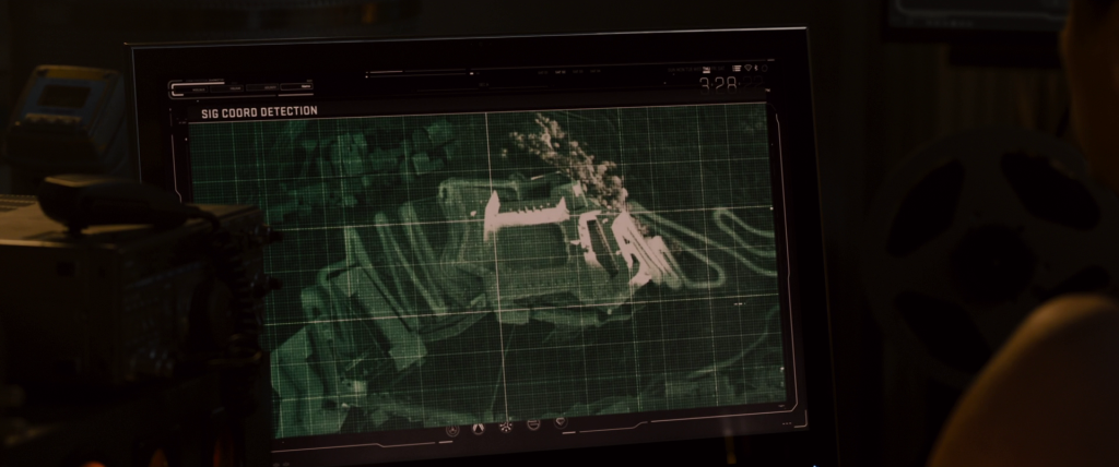 Computer monitor showing location tracking on the HYDRA base in Sokovia.