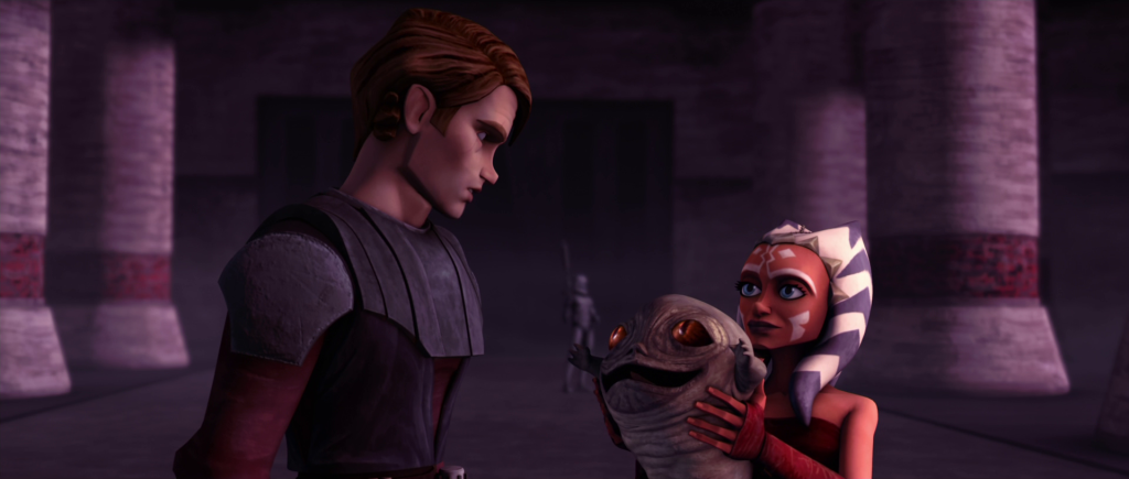 Anakin and Ahsoka rescue Rotta the Hutt in