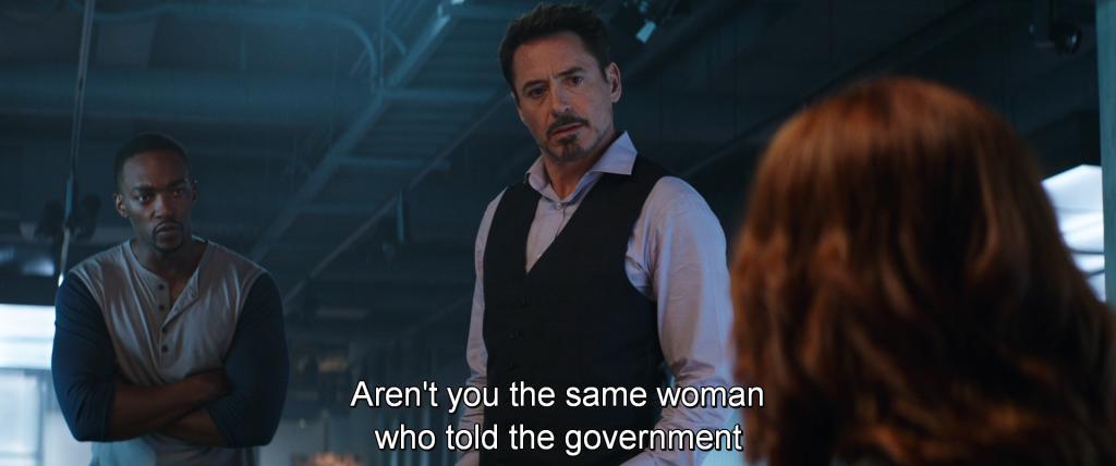 Sam Wilson asks Natasha Romanoff,