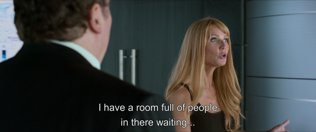 Pepper Potts tells Tony,
