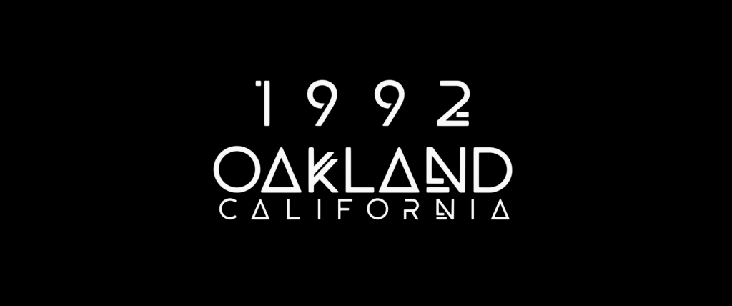 "Title card reading ""1992. Oakland, California."""