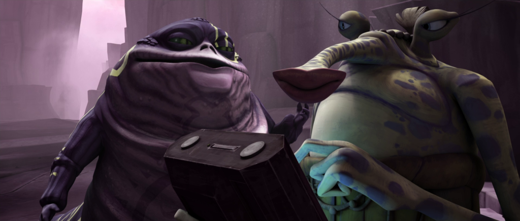 Ziro the Hutt and Sy Snootles in