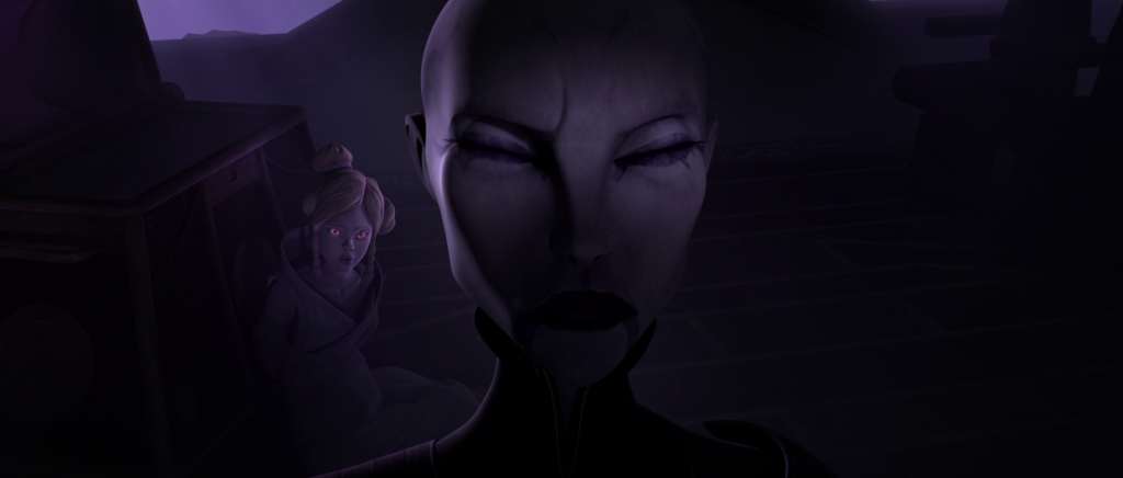 Asajj Ventress wrestles with her past in
